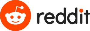 The logo of Reddit