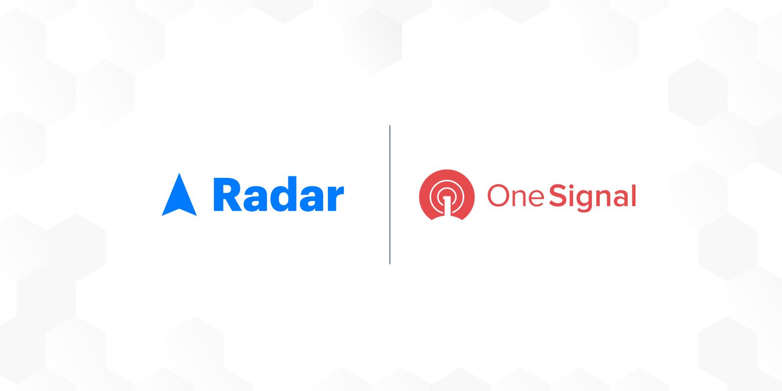 radar+onesignal