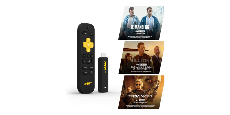 NOW TV Smart Stick with 1 month Entertainment Pass and 1 month Sky Cinema Pass