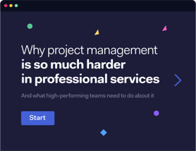 Why project management is so much harder in professional services