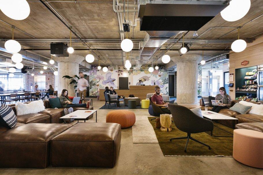 Wework lounge area
