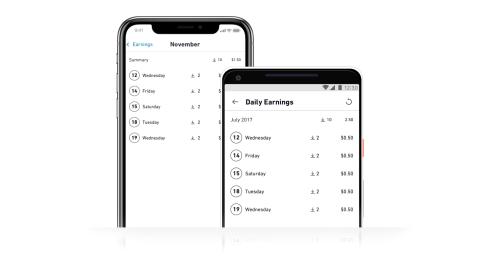Contributor App UI - Dark - Check Your Earnings