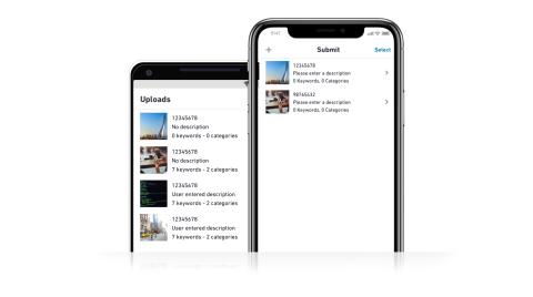 Contributor App UI - Dark - Upload On The Go