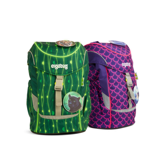 ergobag-mini-lumi-green-purple