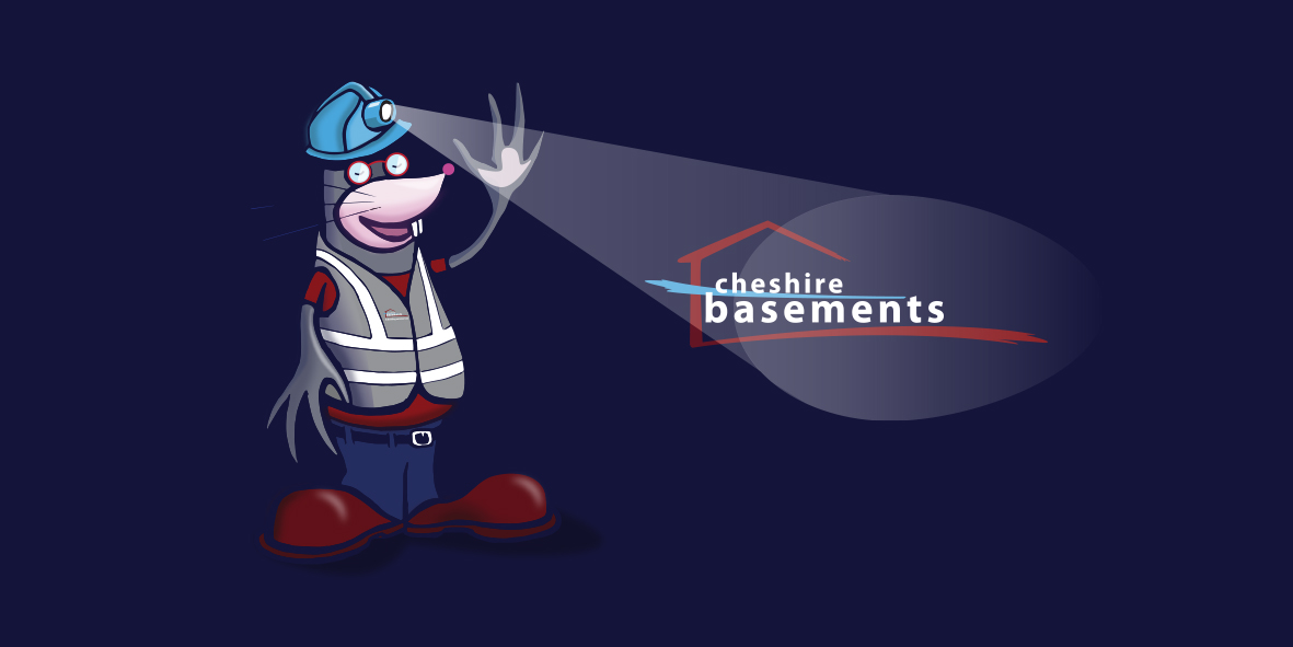 Cheshire Basements Mascot Design - 'Dug'