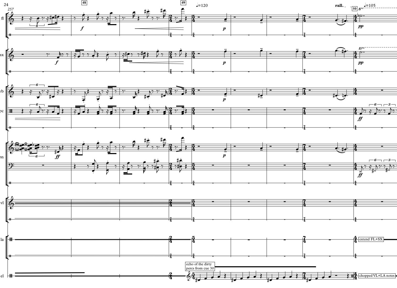 (un)weave score excerpt