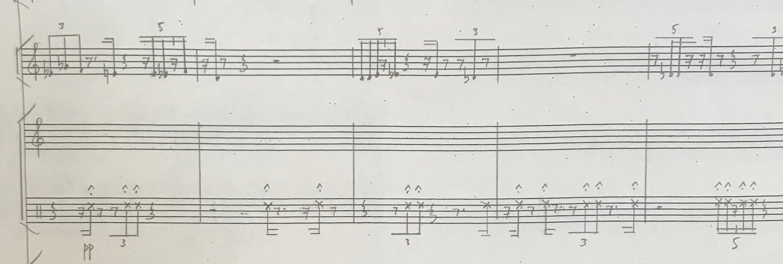 Mincek Glossolalia Percussion Excerpt