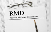 "The words ""RMD: Required Minimum Distribution"" on paper"