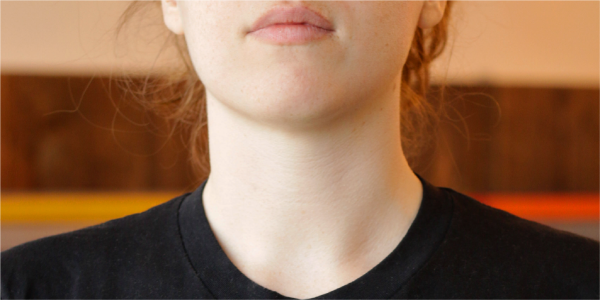 close up photograph of a womans thyroid