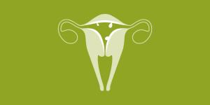 illustration of a uterus showing signs of irregular bleeding around menopause