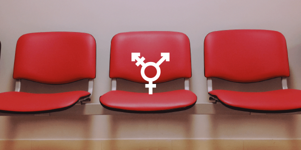 gender icon on top of three empty chairs