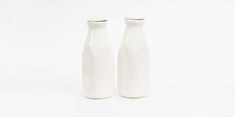 Two bottles of soy milk
