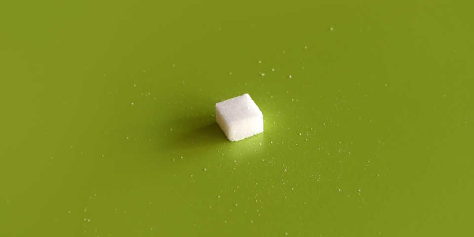 A sugar cube.