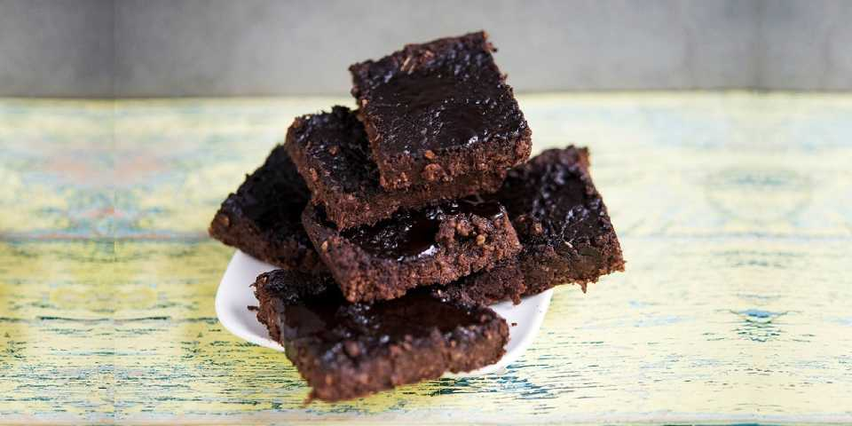 photo of a pile of brownies