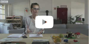 Screenshot of Ida Tin sitting in the Clue Office