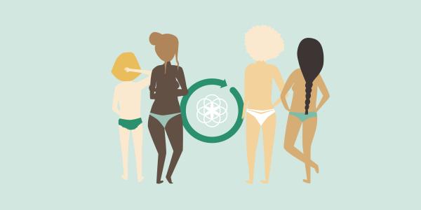 Women cycle Clue Logo green