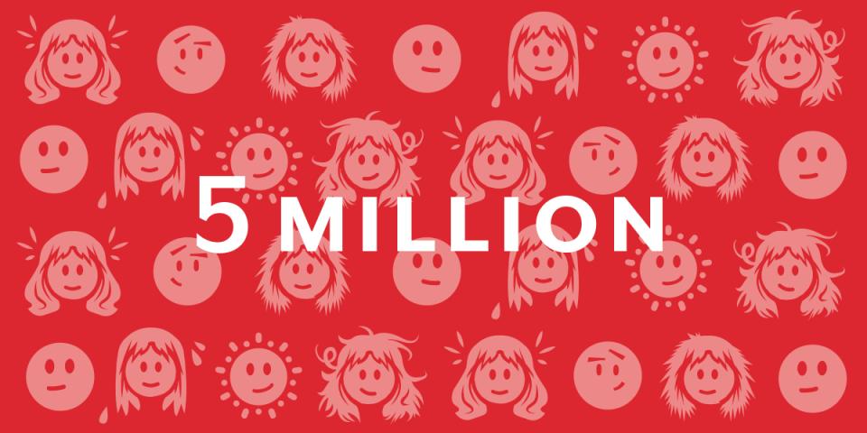 5 million faces illustration