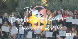 photo of the berlin affair summer 2016 participants with a lay over of the logo of the event