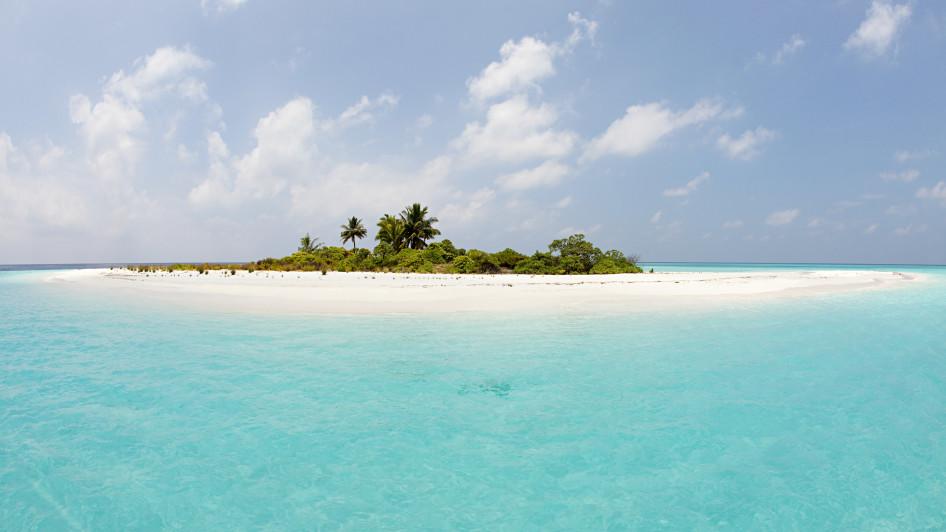 Mathidhoo Island, North Huvadhu Atoll, Gaafu Alif Atoll, Malediven