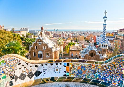 Gaudís Park Güell, Barcelona, Katalonien, Spanische Mittelmeerküste