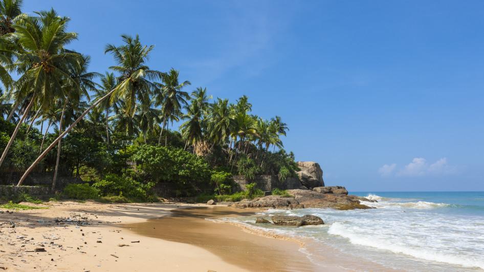 Strand Duwemodara, Galle, Sri Lanka Südküste