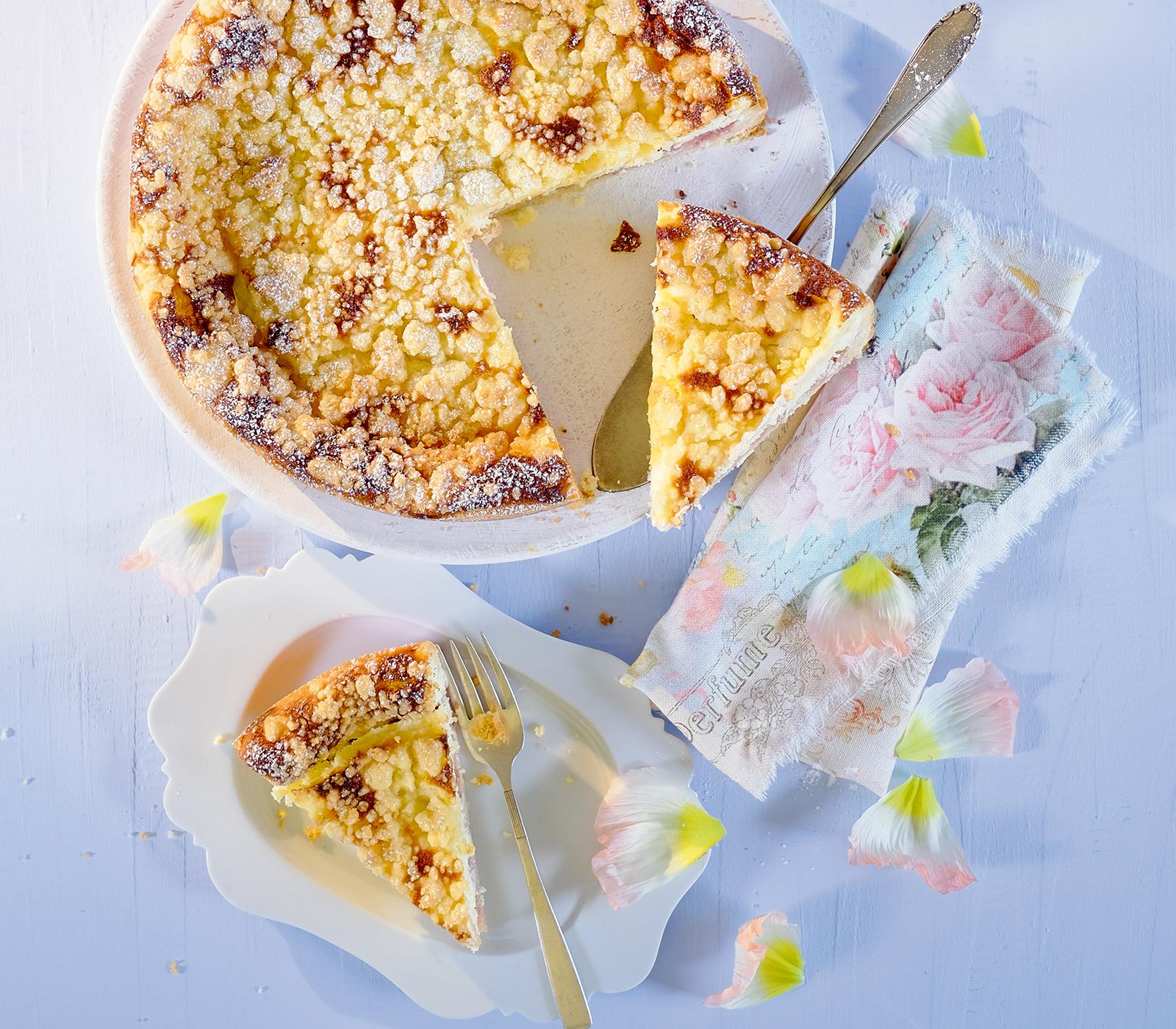Quark Rhabarber Kuchen Mit Streuseln Annemarie Wildeisens Kochen