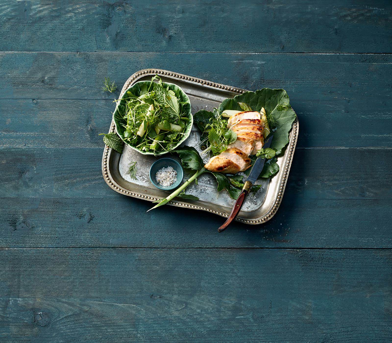 fr hlingskr uter spargel salat mit poulet annemarie wildeisens kochen. Black Bedroom Furniture Sets. Home Design Ideas
