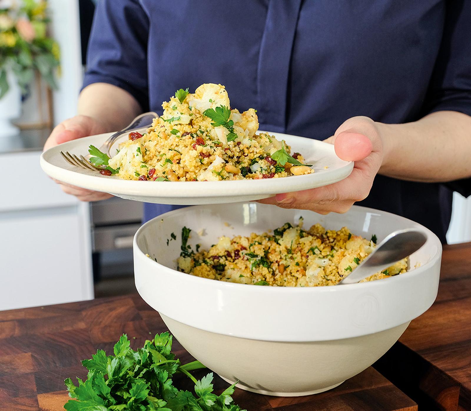 Couscous-Salat mit Blumenkohl