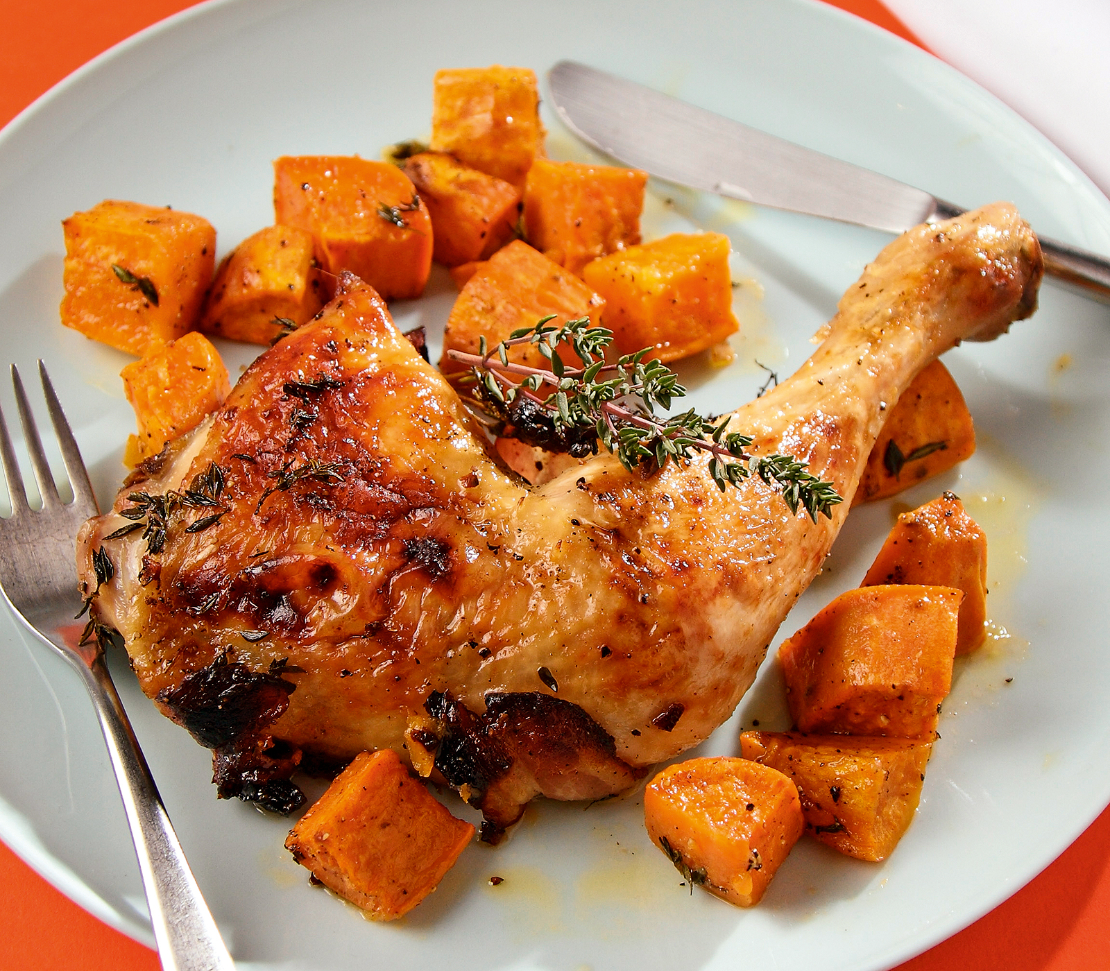 speck poulet mit s sskartoffeln annemarie wildeisens kochen. Black Bedroom Furniture Sets. Home Design Ideas