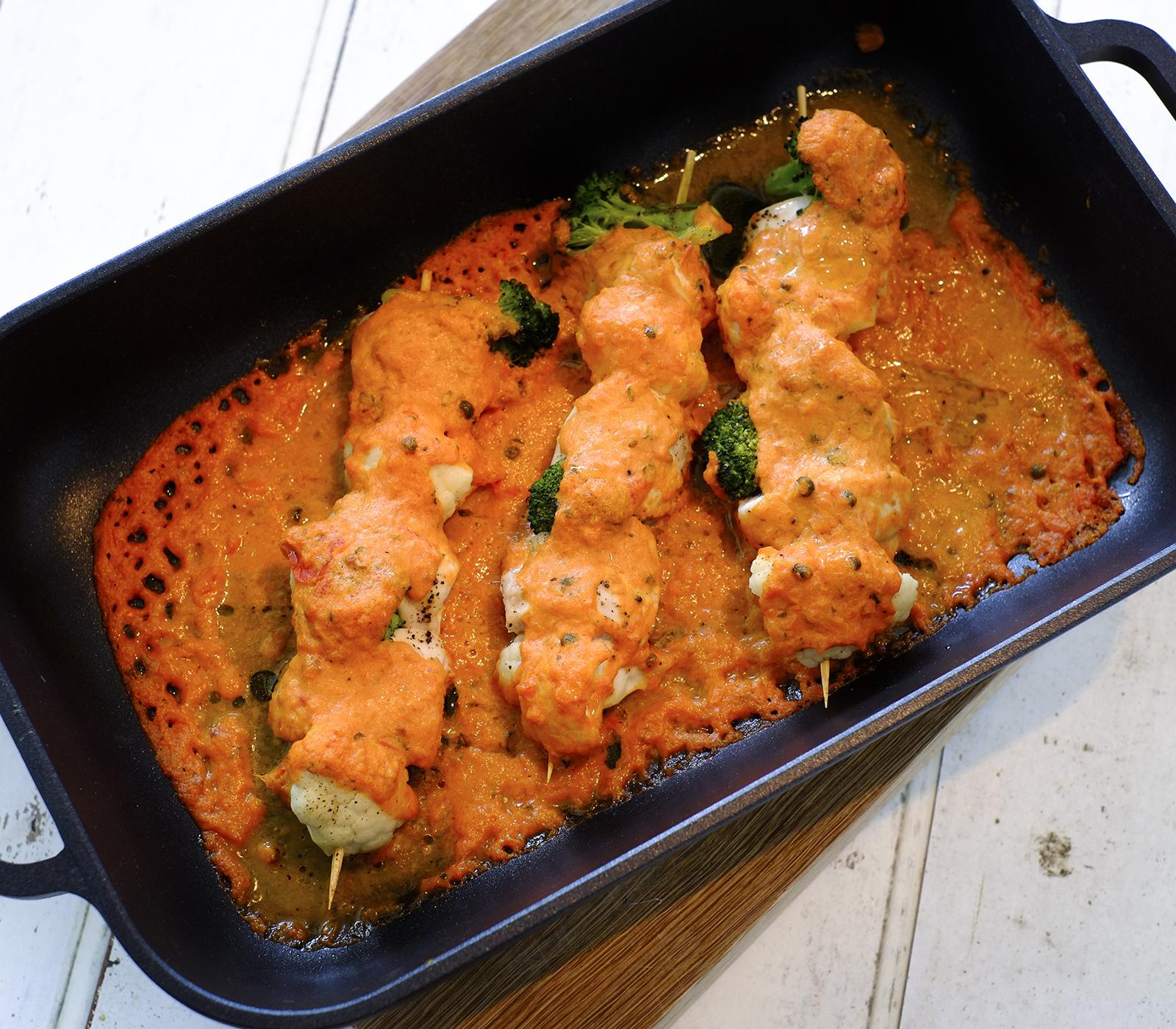 Berbackene pouletspiesse annemarie wildeisens kochen for Kochen 5 personen