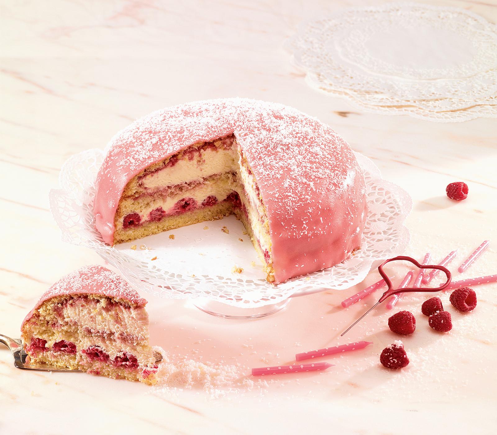 Himbeer Kokosnuss Torte A La Prinzessinen Torte Annemarie