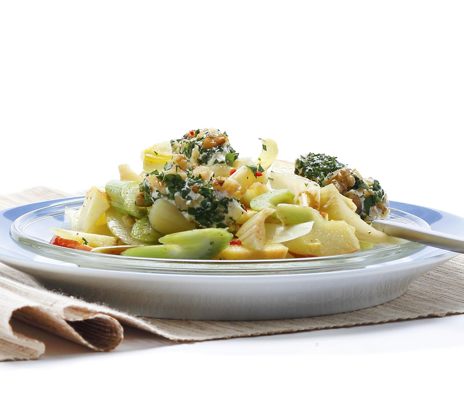 stangensellerie apfel salat mit frischk se annemarie wildeisens kochen. Black Bedroom Furniture Sets. Home Design Ideas