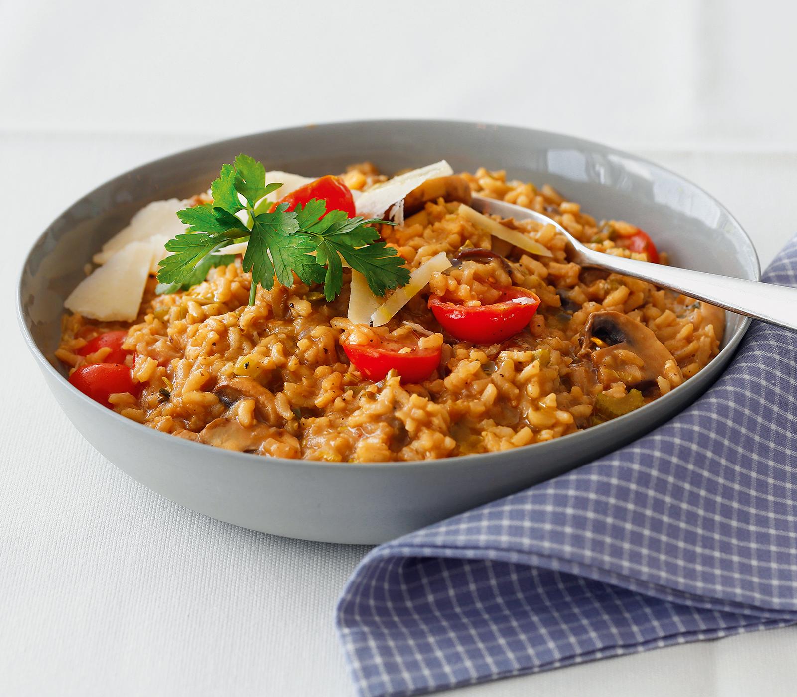 risotto rezepte mit pilzen