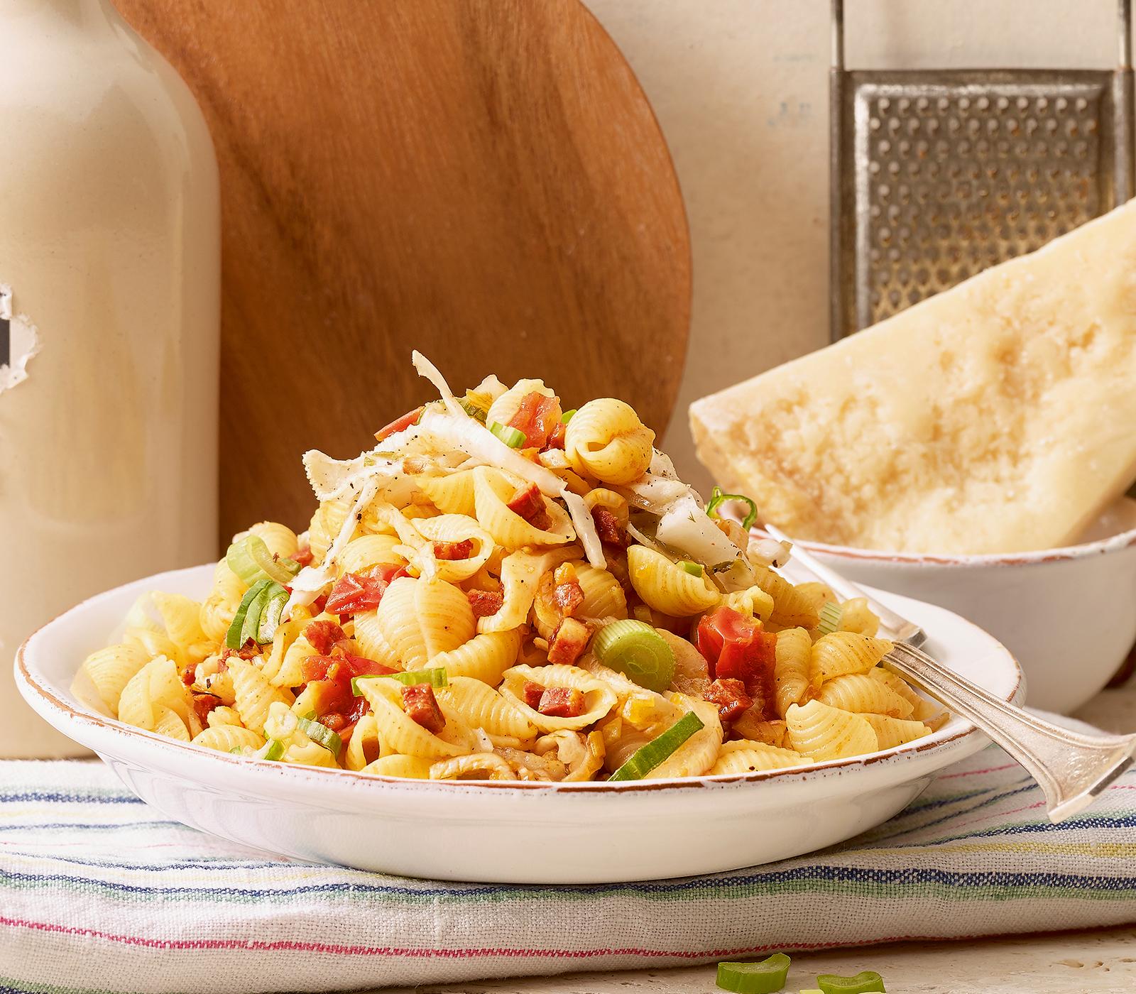 Muschel-Pasta mit Chorizo und Fenchel