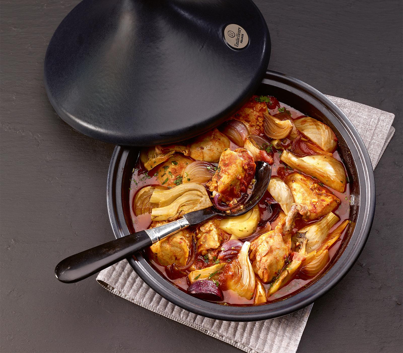 poulet tajine mit fenchel annemarie wildeisens kochen. Black Bedroom Furniture Sets. Home Design Ideas