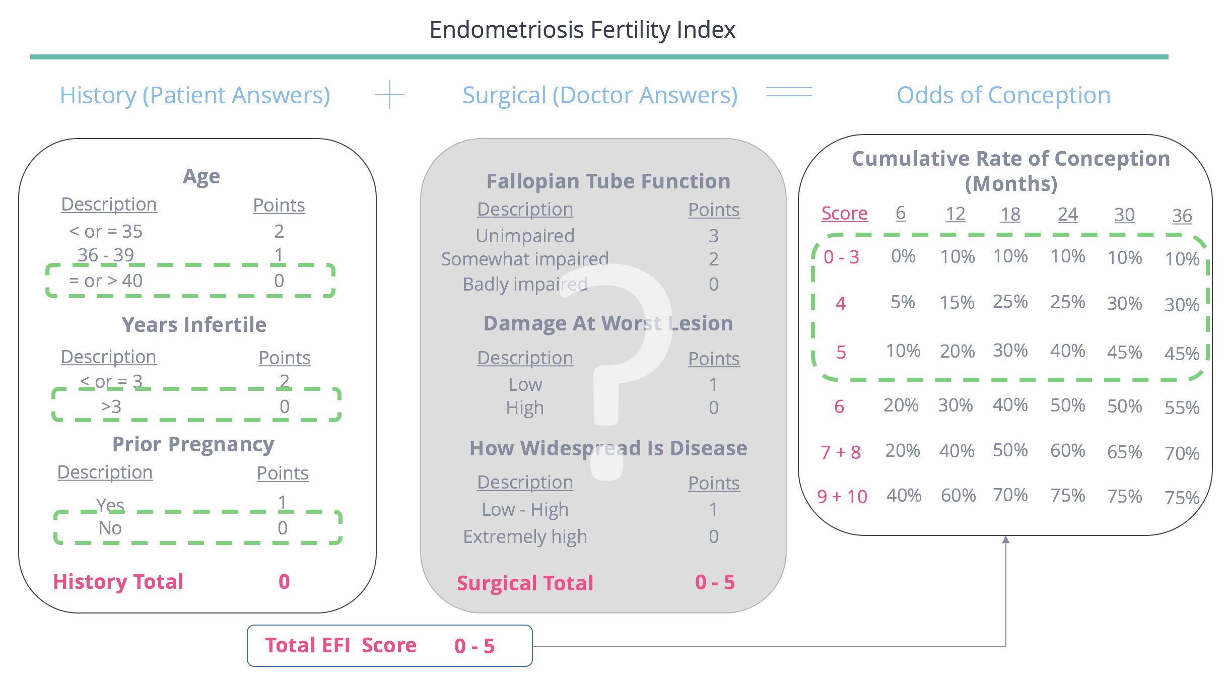 Endometriosis in 40 year old woman with 4 years infertility - endometriosis fertility index