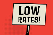 Low interest rates concept