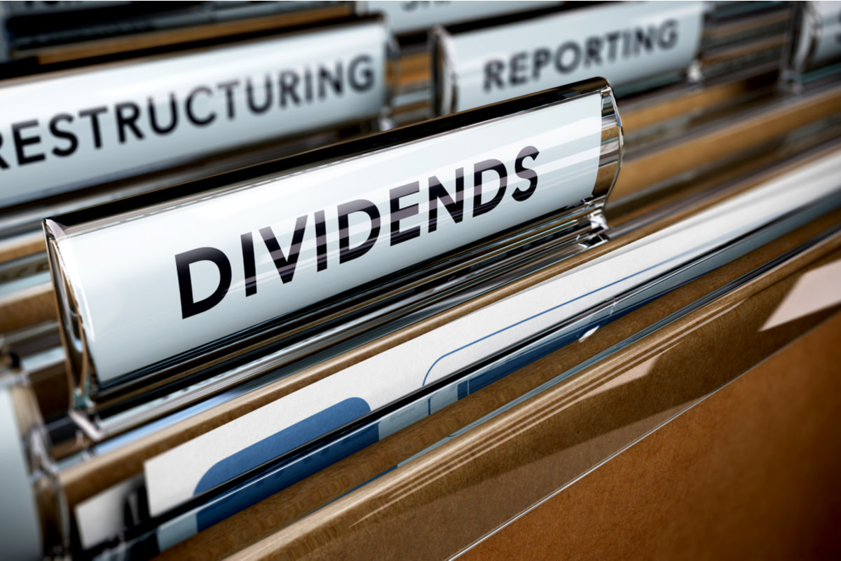 File tab with focus on the word dividends