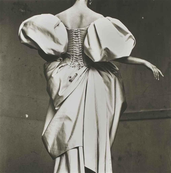 Irving penn  christian lacroix duchesse satin dress  paris  1995
