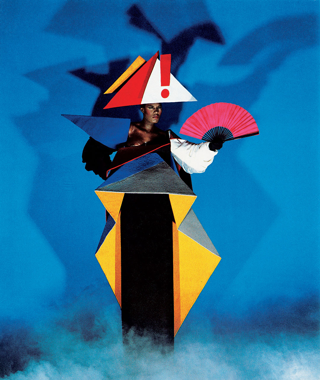 Grace jones in a maternity dress designed by jean paul goude and antonio lopez  1979