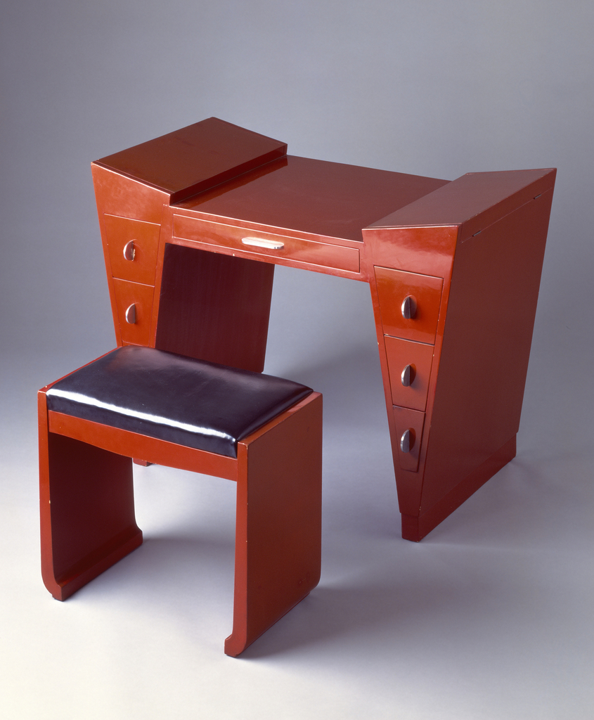 Le  on jallot  dressing table and bench  1929