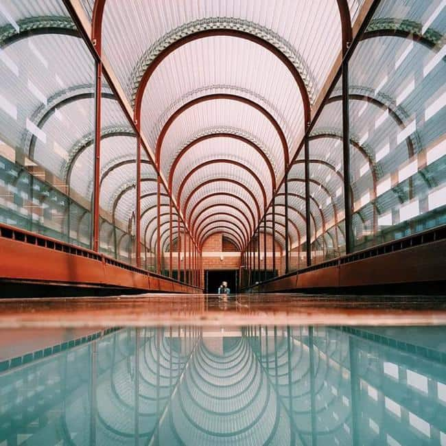 Frank lloyd wright sc johnson wax headquarters completed 1950