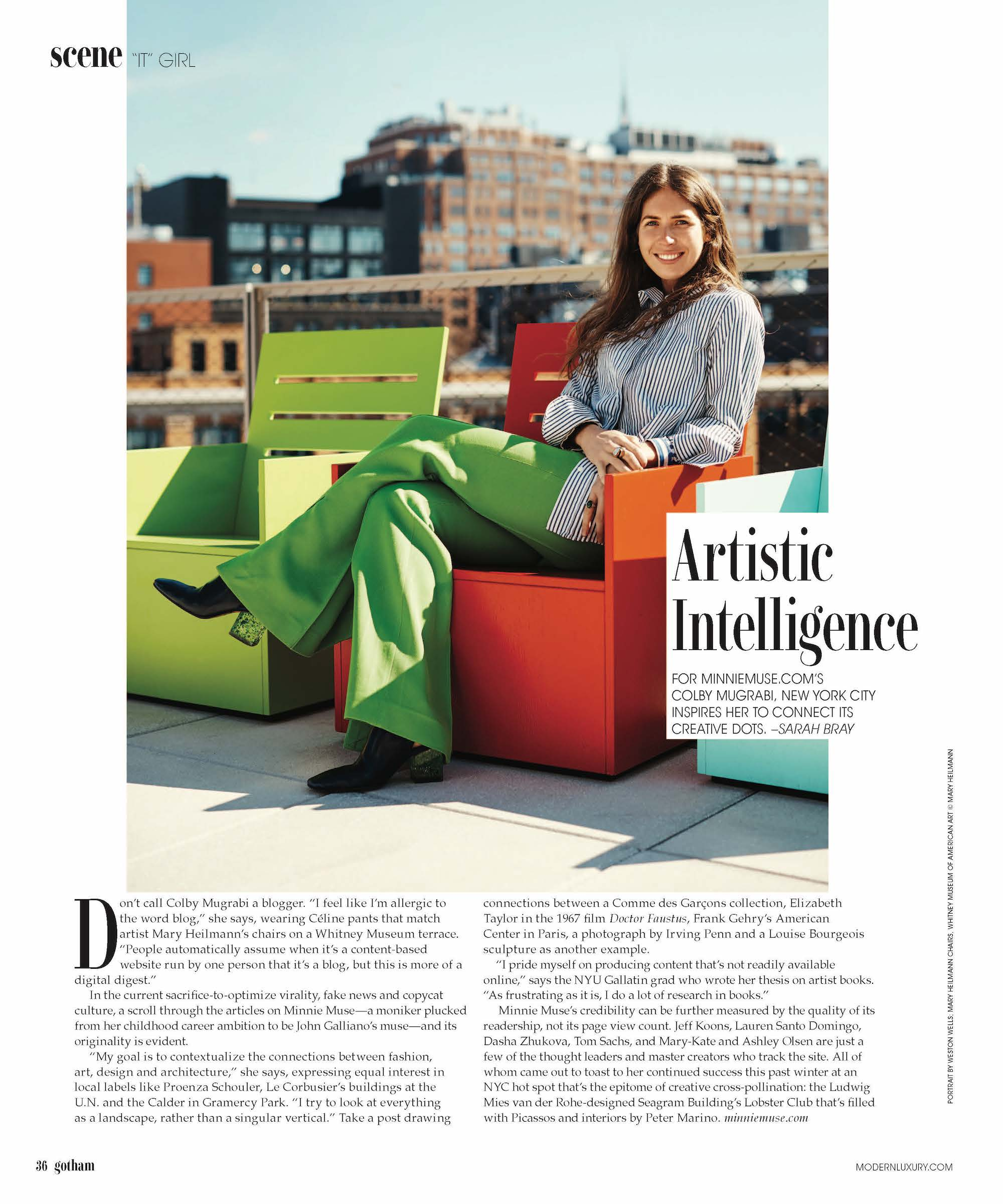 Gotham magazine   may 2018