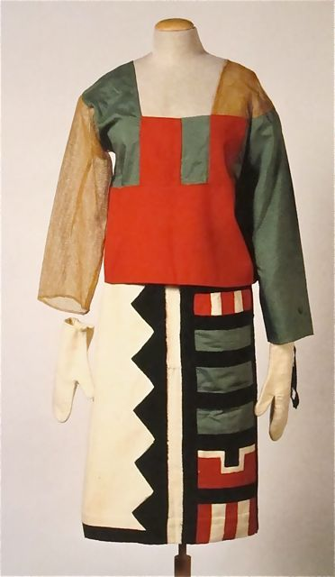 Sophie taeuber arp  hopi indian costume  1922