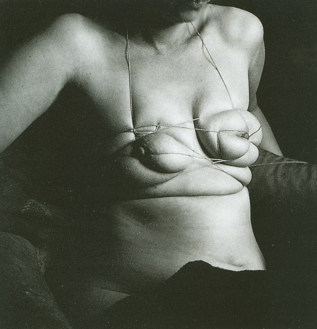 Unica z  rn  photographed by hans bellmer  1958. from     unica tied up