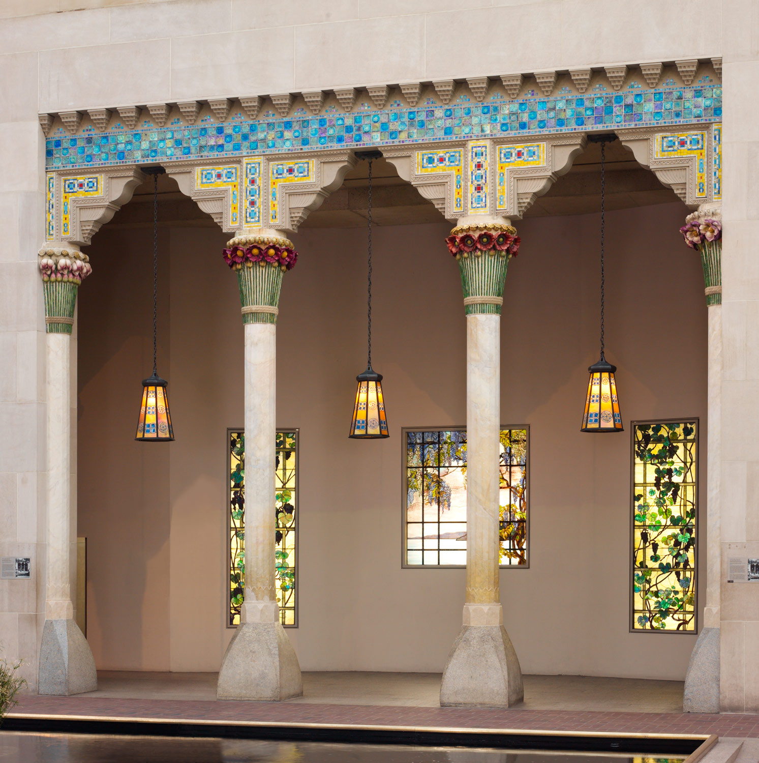 Architectural elements from laurelton hall  oyster bay  new york  designed by louis comfort tiffany  1905