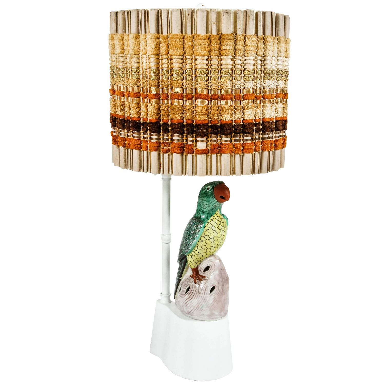 Parrot lamp by william haines