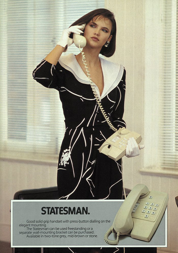 A 1984 statesman telephone promotion by guy laroche