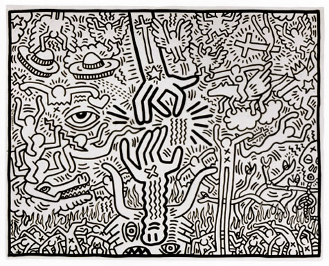 The marriage of heaven and hell by keith haring  1984