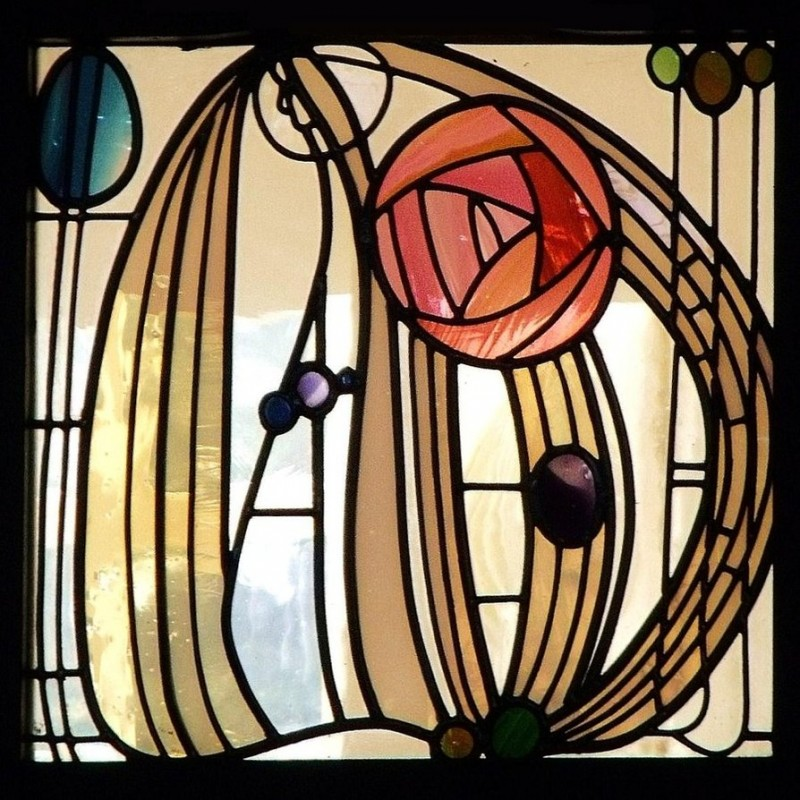 Charles rennie mackintosh  stained glass window  the hill house glasgow